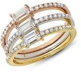 Crislu Renee Tri-Color Goldplated Ring