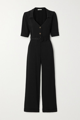 USISI SISTER Gillian Belted Cady Jumpsuit - Black