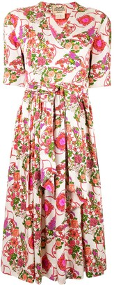 Hermes Pre-Owned Floral Wrap Dress
