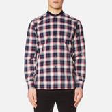 MAISON KITSUNÉ Men's Check James Rib Long Sleeve Shirt Multicolour Check