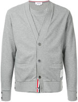 Thom Browne reconstructed V-neck cardigan