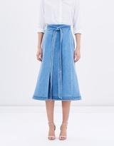 Lover Evvie Wrap Midi Skirt