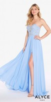 Alyce Paris Strapless Sweetheart Chiffon Beaded Prom Dress