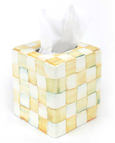 Mackenzie Childs MacKenzie-Childs Parchment Check Tissue Box Cover
