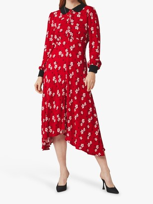 Ghost Harison Japonica Daisy Floral Dress, Red/Multi