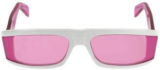 RetroSuperFuture Issimo Fuxia Bicolor Acetate Sunglasses