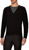 Givenchy V-neck Perforated Sweater