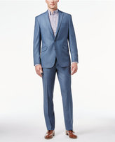 Kenneth Cole Reaction Light Blue Sharkskin Slim-Fit Suit
