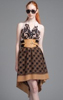 Tracy Reese High/Low Halter With Belt