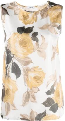 P.A.R.O.S.H. Floral-Print Sleeveless Blouse