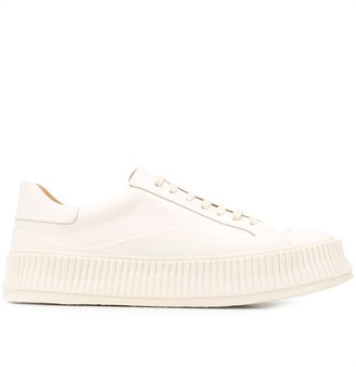 Jil Sander Lace Up Sneakers