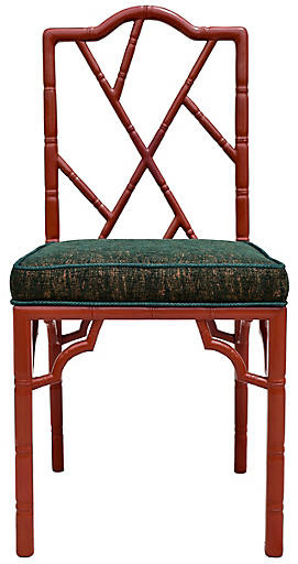 One Kings Lane Vintage Chinese Chippendale Chair - Cannery Row Home