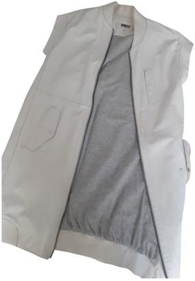 Maison Margiela Ecru Leather Jacket for Women