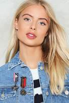 Nasty Gal nastygal Brave Front 2-Pc Jacket Pins