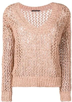 Luisa Cerano crochet open-knit jumper
