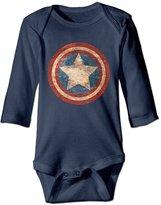 ERICP Newborn Baby Boy Girls' Captain America Civil War Distressed Shield Long Sleeves Romper Jumpsuit