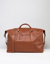SANDQVIST Jordan Leather Carryall Bag In Brown