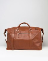 Sandqvist Jordan Leather Holdall Bag In Brown