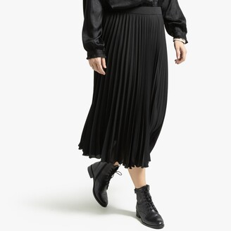 La Redoute Collections Plus Pleated Midi Skirt