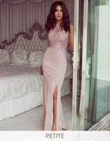 Lipsy Love Michelle Keegan Petite Sequin Halter Maxi Dress