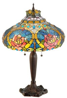 "Tiffany & Co. Meyda Dragonfly Rose 26"" Table Lamp Meyda"