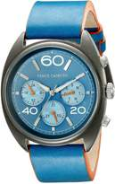 Vince Camuto Men's VC/1053NVSV The Transporter Multi-Function Dial Navy Leather Strap Watch