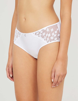 Chantelle Wagram lace and mesh briefs