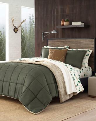 Eddie Bauer Sherwood Green Micro Suede Comforter Set