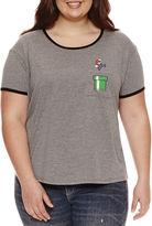Fifth Sun Short Sleeve Scoop Neck Super Mario Graphic T-Shirt