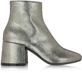 MM6 Maison Martin Margiela Platinum Leather Ankle Boot
