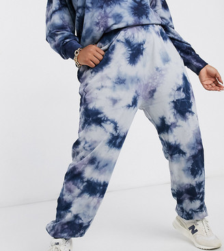Noisy May Curve exclusive trackies co-ord in blue tie-dye