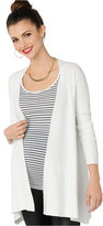 Design History Maternity Ribbed Open-Front Cardigan