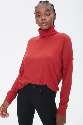 Forever 21 Ribbed Turtleneck Top