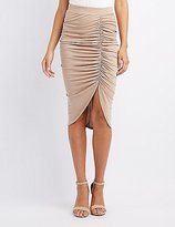 Charlotte Russe Ruched Bodycon Skirt