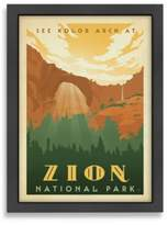 Zion Americanflat National Park Framed Wall Art