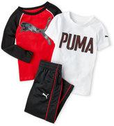 Puma Toddler Boys) 3-Piece Logo Tee & Track Pants Set