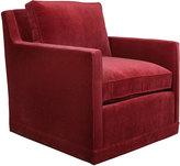 Horchow Nina St. Clair Red Velvet Swivel Chair