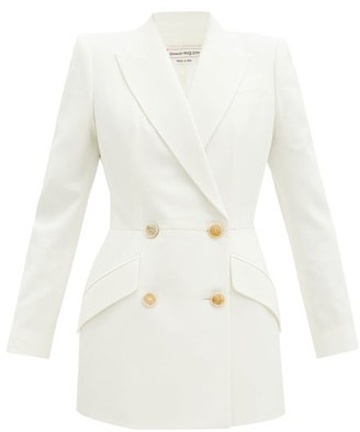 Alexander McQueen Double-breasted Crepe Jacket - Ivory