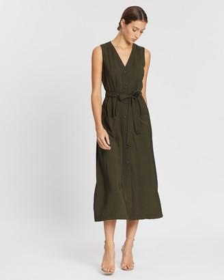 Whistles Cody Button-Through Dress