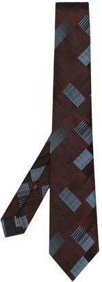 Cerruti geometric patterned tie
