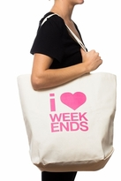 Dogeared I Heart Weekends Big Tote in Canvas