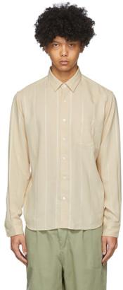 Ami Alexandre Mattiussi Beige Striped Summer Fit Shirt