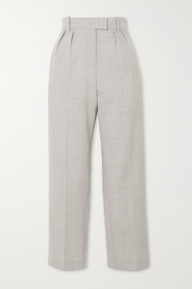 NACKIYÉ Adana Grain De Poudre Straight-leg Pants - Gray