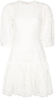 Borgo de Nor Tabitha cutout lace mini dress