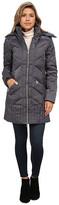 Sam Edelman Zip Front 3/4 Puffer Coat