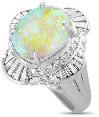Heritage Platinum 4.51 Ct. Tw. Diamond & Opal Ring