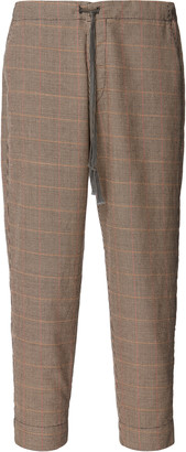 Greg Lauren Slim Houndstooth Wool Pants