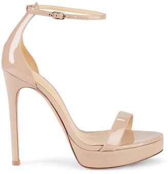 Alexandre Birman Stiletto Patent Leather Sandals