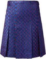 Gucci GG pleated mini skirt - women - Silk/Cotton/Acrylic/Metallized Polyester - 40
