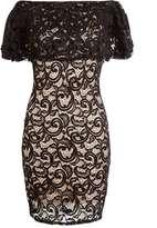 Quiz **Quiz Black Lace Bardot Dress